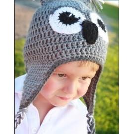bonnet pour bébé koala gris