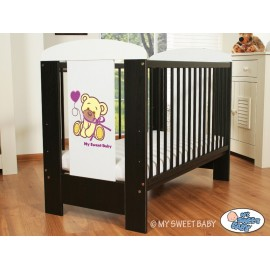 lit pour b b en bois motif ourson brun lit enfant avec matelas. Black Bedroom Furniture Sets. Home Design Ideas