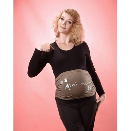 Bandeau de grossesse Mini moi Kaki