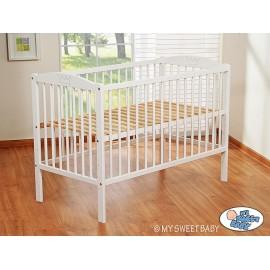 Lit bébé couronne blanc + matelas