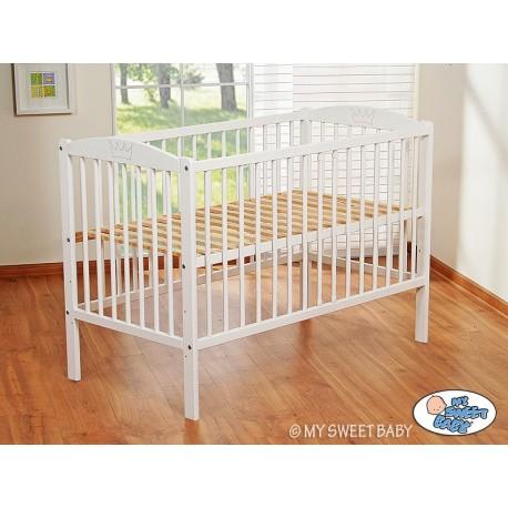 lit bébé couronne blanc+ matelas