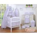 Parure de lit bébé deux coeurs fleurie