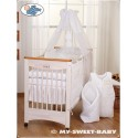 Parure de lit bébé prince ou princesse blanc