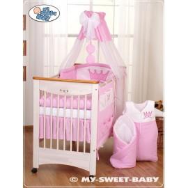 Parure de lit bébé prince ou princesse rose