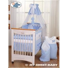 Parure de lit bébé prince ou princesse bleu