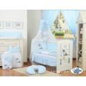 Parure de lit bébé âne bleu