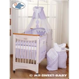 Parure de lit bébé prince ou princesse violet