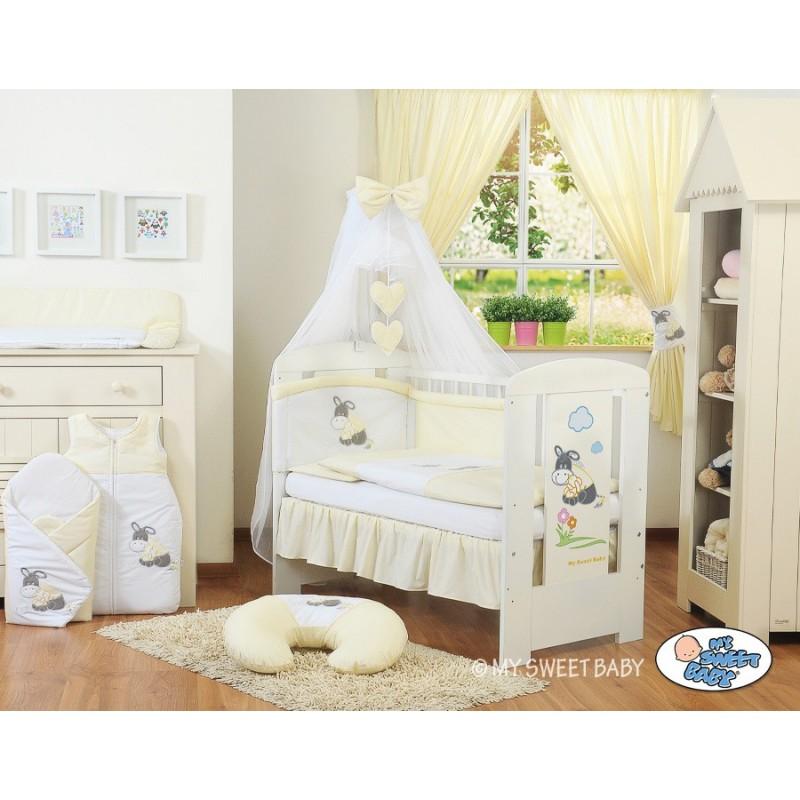parure de lit b b ne jaune cr me accessoire pour b b pas cher. Black Bedroom Furniture Sets. Home Design Ideas