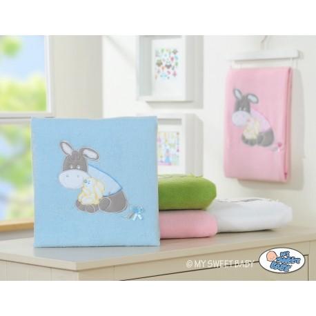 Couverture polaire pour bébé motif âne