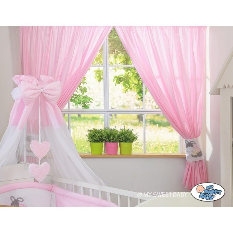 rideaux avec embrasse motif ne linge pour chambre de b b. Black Bedroom Furniture Sets. Home Design Ideas