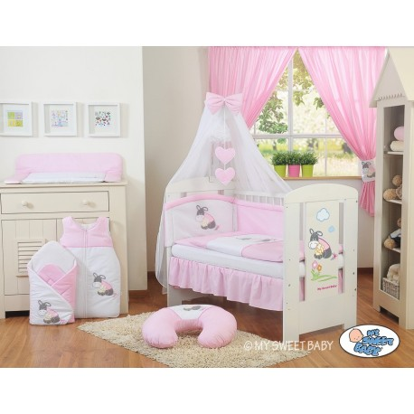 lit pour b b parure rose motif ne lit pour enfant pas cher. Black Bedroom Furniture Sets. Home Design Ideas
