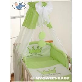 Parure de lit bébé prince ou princesse vert