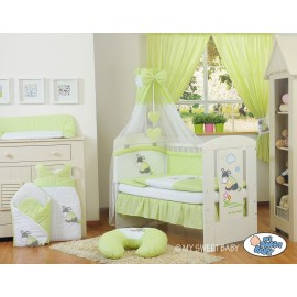 Parure de lit bébé âne vert