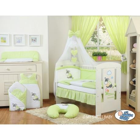 Lit et parure de lit bébé âne vert