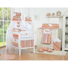 parure de lit deux c urs rose et blanc vichy linge de lit b b. Black Bedroom Furniture Sets. Home Design Ideas
