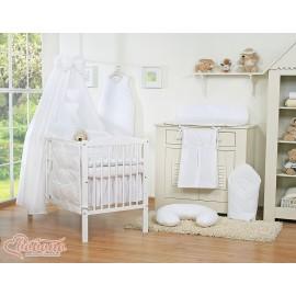 Parure de lit bébé deux coeurs blanc