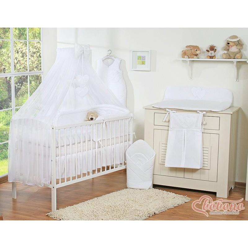 parure de lit deux c urs blanc linge de lit b b. Black Bedroom Furniture Sets. Home Design Ideas