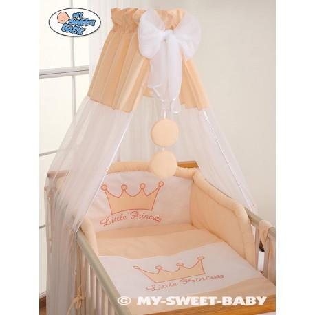 Parure de lit bébé prince ou princesse pêche
