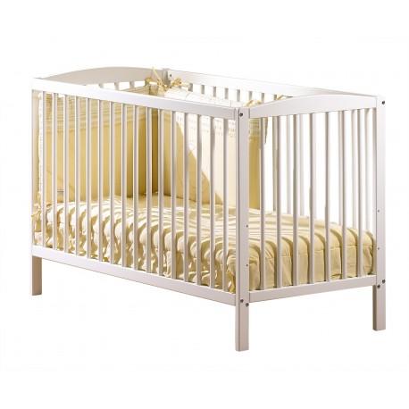 Lit pour bébé 1er prix blanc Sauthon