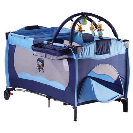 lit parapluie sleeper bleu lit pliant pour enfant. Black Bedroom Furniture Sets. Home Design Ideas
