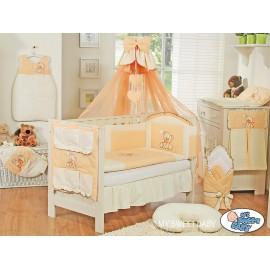 Parure de lit bébé complète ours teddy pêche