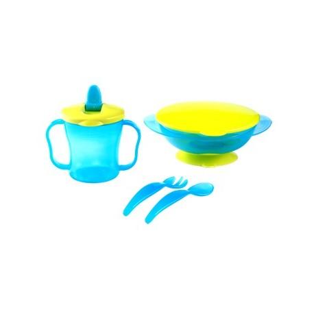 coffret repas pour bébé bleu