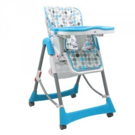 Chaise haute pour bébé rond bleu
