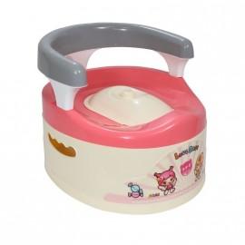 Pot pour bébé malin avec dossier rose