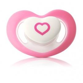 sucette forme coeur rose 0-6 mois