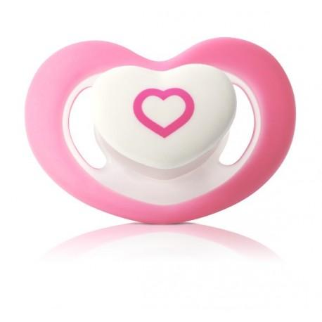 sucette forme coeur rose 6 mois et plus