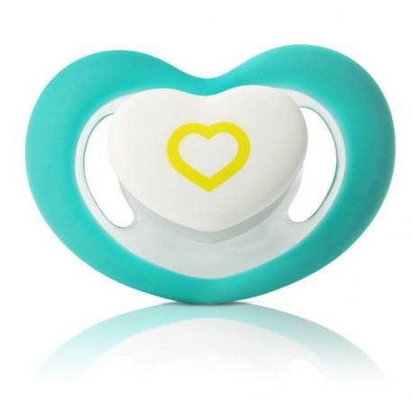 sucette forme coeur bleu 6 mois et plus
