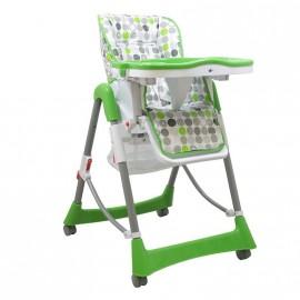 Chaise haute pour bébé rond vert