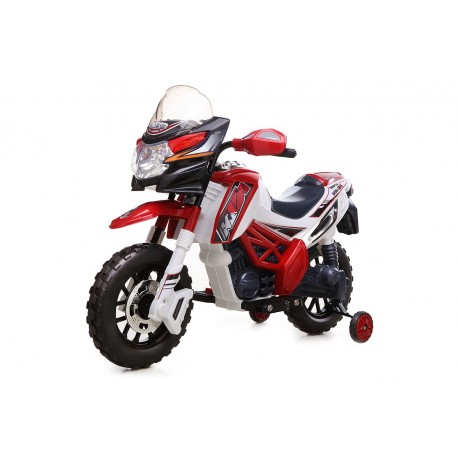 moto électrique motocross 6V rouge