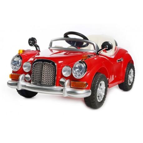 voiture lectrique 12v r tro rouge voitures lectriques pour enfant. Black Bedroom Furniture Sets. Home Design Ideas