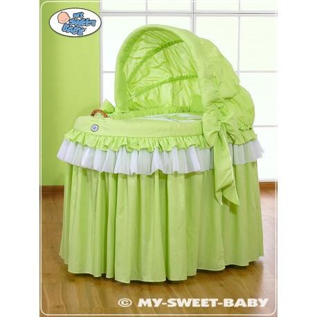 Berceau et parure complète avec jupe verte