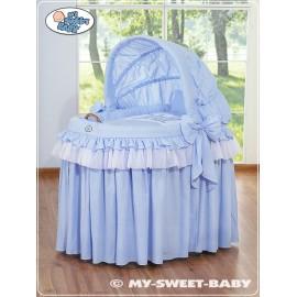 Berceau et parure complète avec jupe bleu
