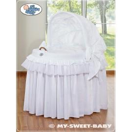Berceau et parure complète avec jupe blanc