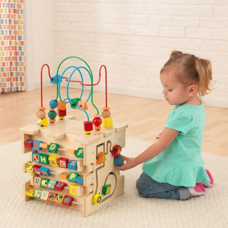 Cube d'activités de luxe en bois - kidkraft