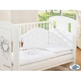 Parure de lit bébé chic blanc