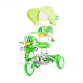 Tricycle pour bébé canard vert