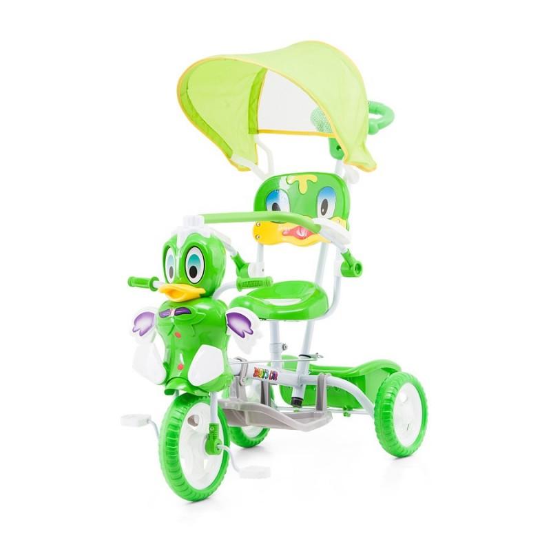 tricycle pour enfant canard vert avec capote. Black Bedroom Furniture Sets. Home Design Ideas