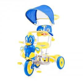 Tricycle pour enfant canard bleu avec capote