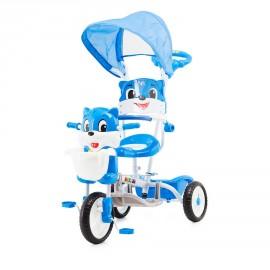 Tricycle pour enfant ours bleu avec capote