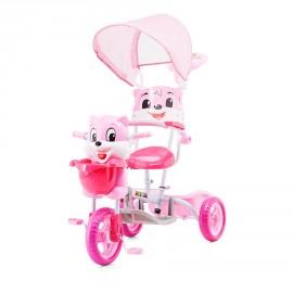 Tricycle pour enfant ours rose avec capote
