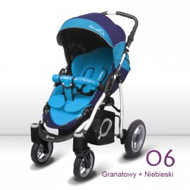 poussette simple sport Q double bleu