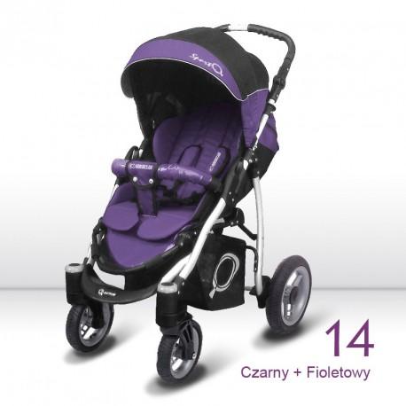 poussette simple sport Q violet