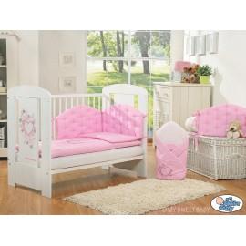 Parure de lit bébé chic rose