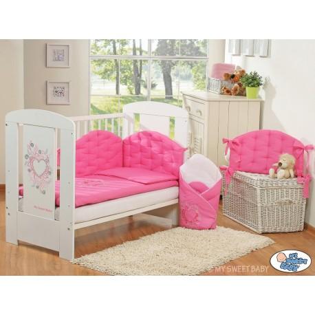 parure de lit b b chic fuschia linge de lit b b. Black Bedroom Furniture Sets. Home Design Ideas