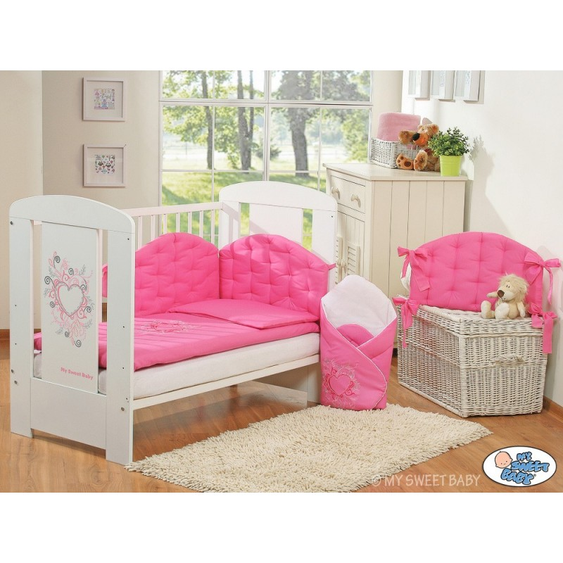 parure de lit b b chic fuschia linge de lit b b. Black Bedroom Furniture Sets. Home Design Ideas