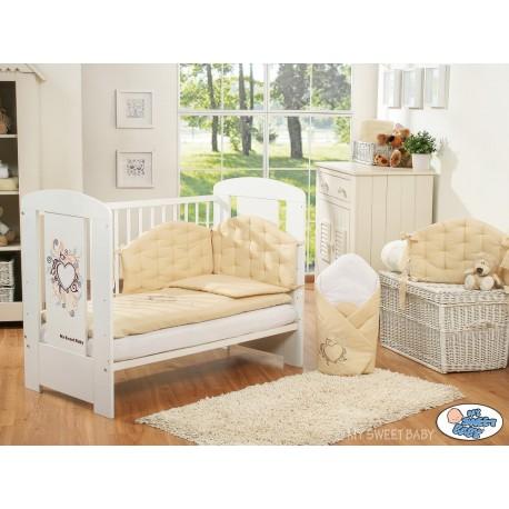 Parure de lit bébé chic beige